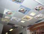 Print op plafondplaten