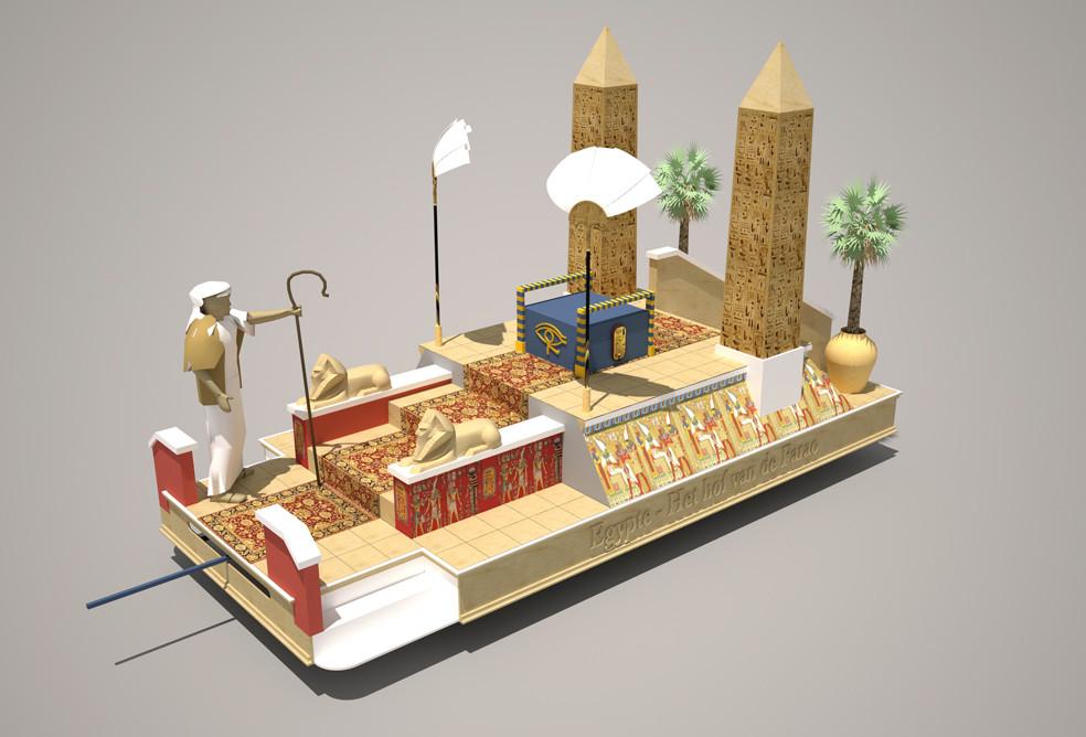 Praalwagen: Mozes en de farao