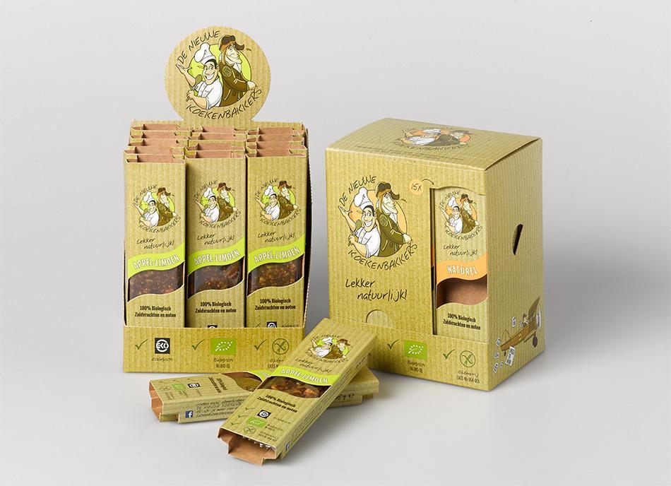 """Packaging design voor """"De nieuwe koekenbakkers"""" uit Lelystad."""