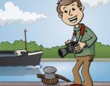 Educatieve illustratie; de scheepsfotograaf.