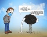 Cartoon; struisvogels en corona