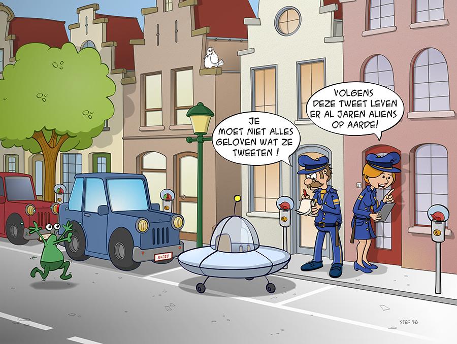 Cartoon; je moet niet alles geloven wat ze op internet zetten