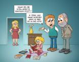 Cartoon; waar komt inteligentie vandaan?