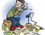 Illustratie voor lesboek; geluidsopname