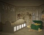 Illustratie voor Wiskanjers; schat in grafkamer Egypte.