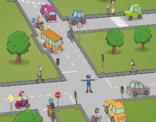 """Educatief spelbord """"verkeersregels"""" uit de Wereldoriëntatie reeks van uitgeverij Plantyn"""
