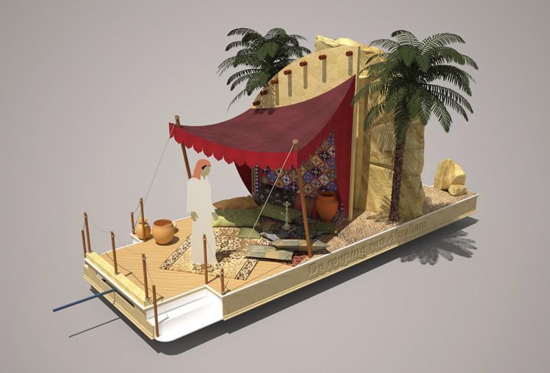 Praalwagen: De roeping van Abraham