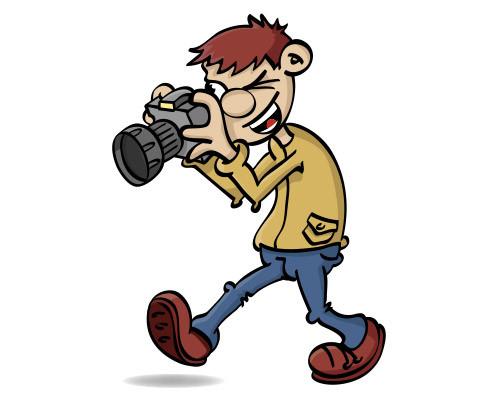Illustratie van een jongen die fotografeert.