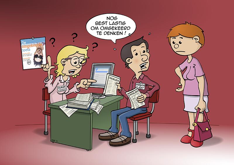 Cartoon; over omgekeerd denken