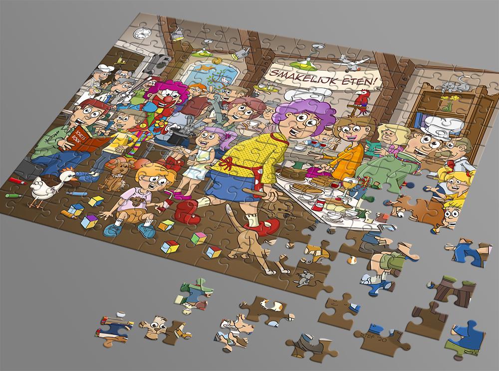 Afbeelding zoekplaat puzzel - smakelijk eten