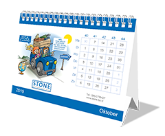 Cartoon jaarkalender