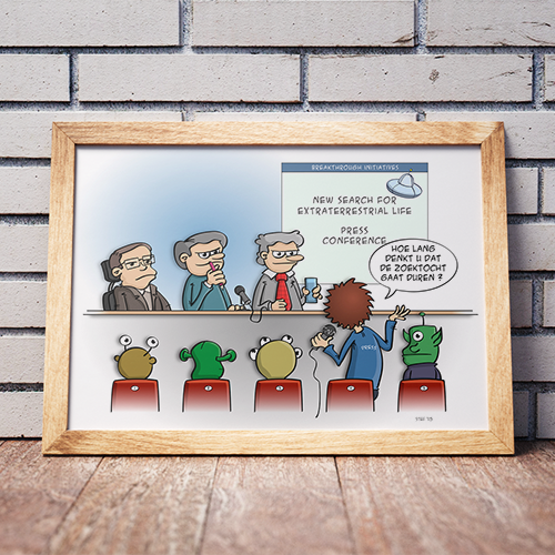 Hang eens een cartoon aan je muur