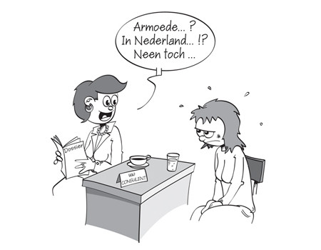 Illustratie armoede in Nederland