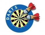 logo, ontwerp, darts