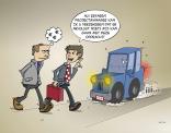 cartoon: Met een ervaren projectmanager kan er absoluut niets mislopen!