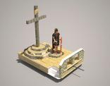 Ontwerp voor praalwagen; De kruisdood