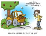 De Apple helpdesk helpt waar hij kan.