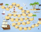 """Educatief spelbord """"De eilanden"""" uit de taalkanjers reeks van uitgeverij Plantyn"""