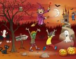 Uitnodiging voor Halloweenparty bij sloebieland