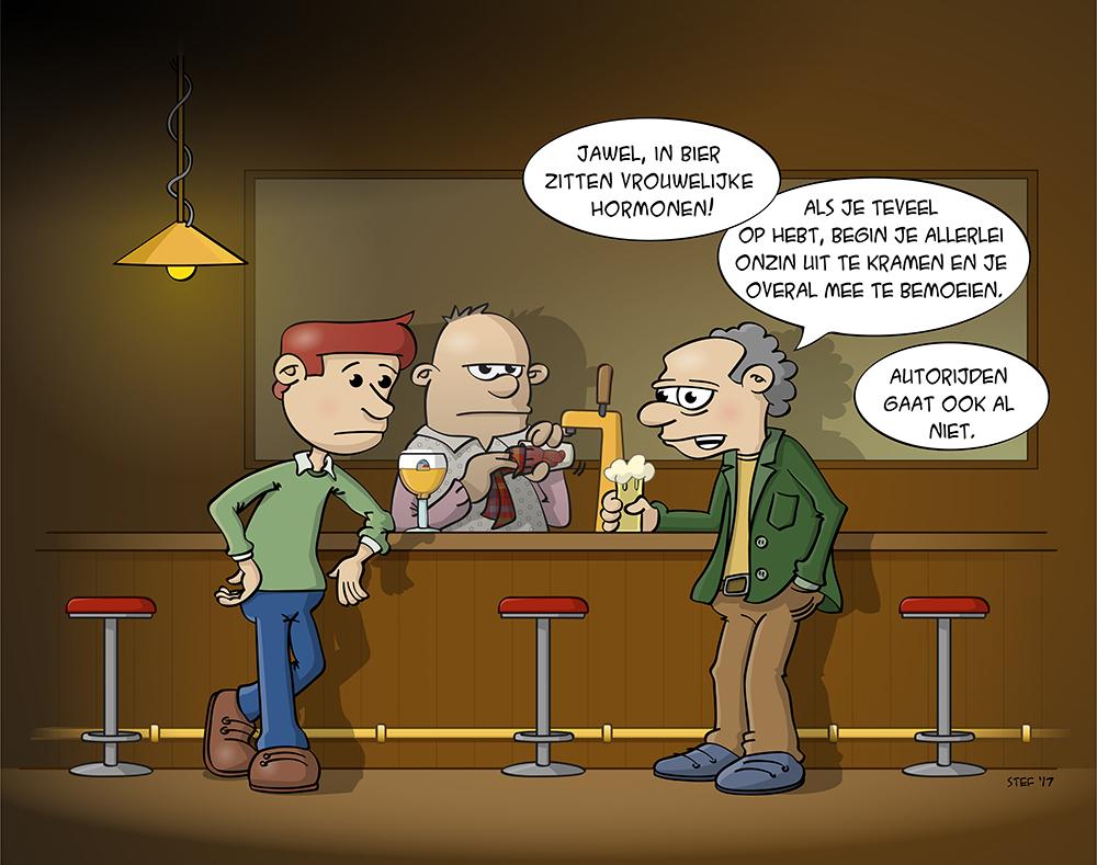 Vrouwelijke hormonen in Bier