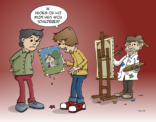Cartoon; De juiste zzper voor de klus vinden...