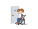 Illustratie; het mindervaliden toilet.