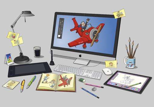 Voorbeeld van illustratieve vormgeving