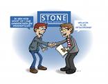illustratie voor Jaarkalender Stone