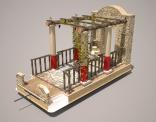 Ontwerp voor praalwagen; de bruiloft te Kana