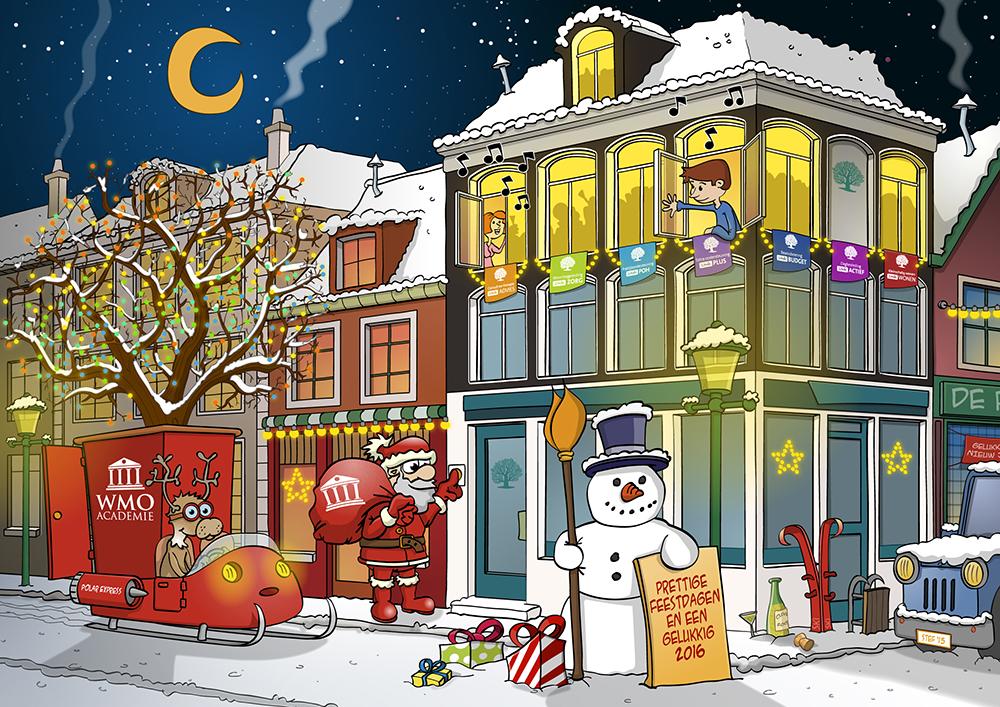 Kerstkaart 2015 voor stichting De Linde in opdracht van Typo Dynamo