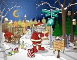 Ontwerp voor kerstkaart in Opdracht van Stichting De linde.