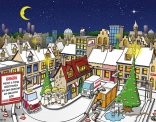 Ontwerp voor kerstkaart in opdracht van Eekels