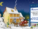 Kerstkaart in opdracht van de Liberale mutualitet Limburg