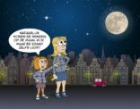 cartoon: wonen op de maan