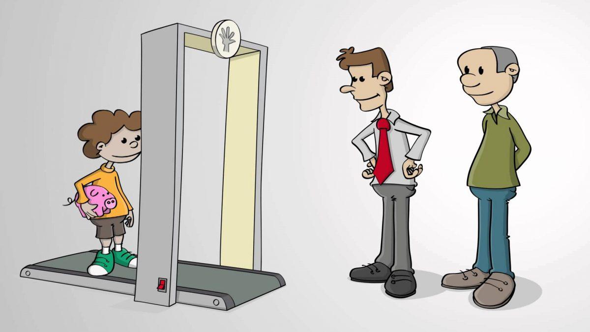 De mystery shopper. Animatie ontworpen in opdracht van www.mindsetting.be voor hun klant Ergo-insurance.