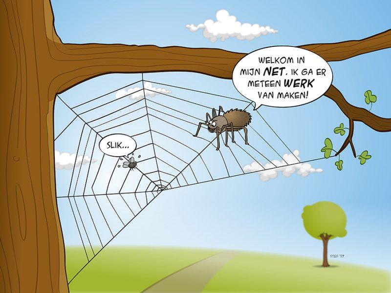 cartoon werk maken van je netwerk