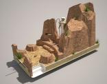 Praalwagen: De gave van de Wet - Mozes en de stenen tafelen