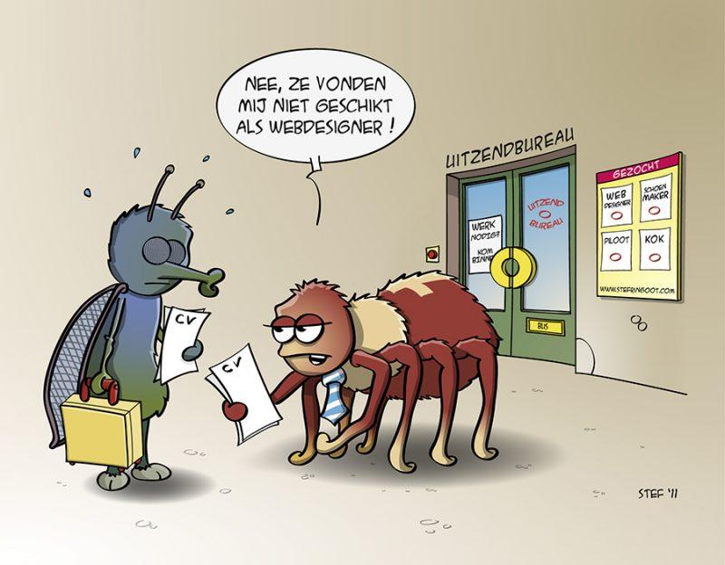 Cartoon; Niet geschikt als webdesigner