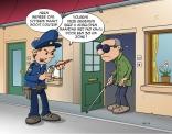 Cartoon; Ons systeem maakt nooit fouten