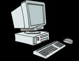 illustratie van een oude PC