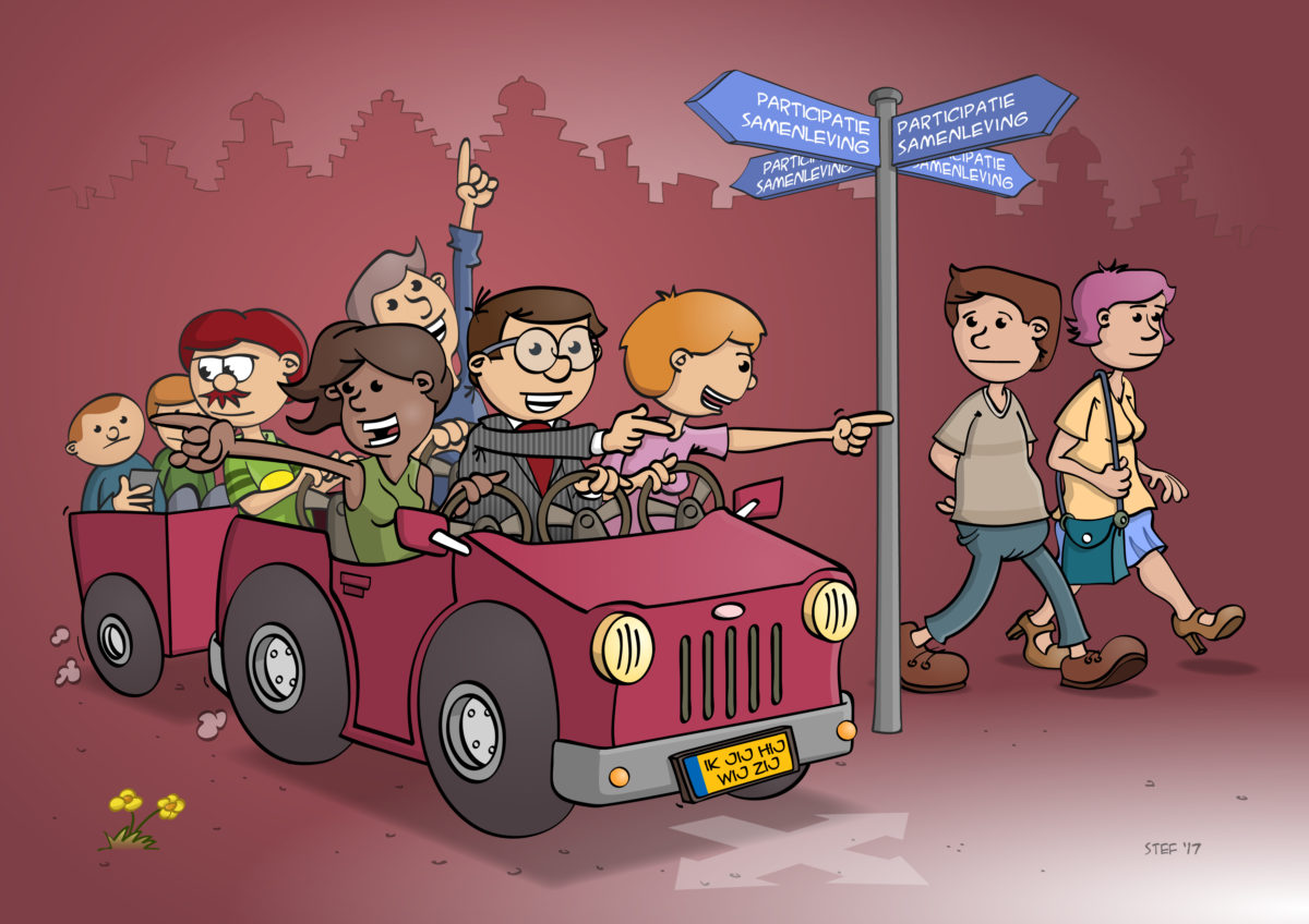 cartoon; De participatiesamenleving