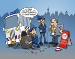 cartoon; stop alcohol controle.