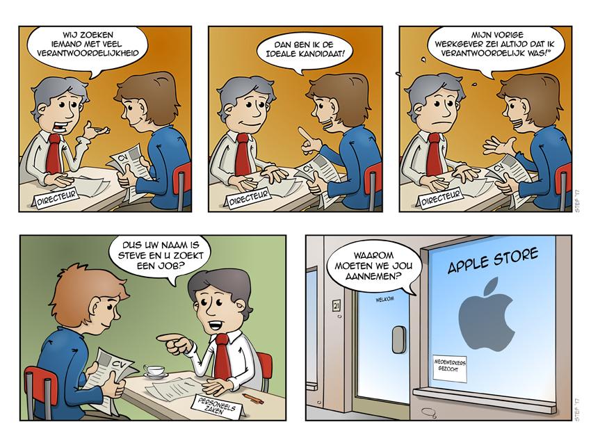 Portfolio voorbeeld strips