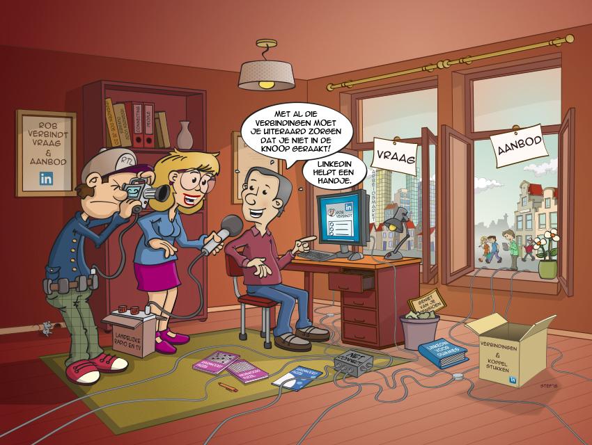 Web illustraties, cartoons, illustraties, animaties, vormgeving