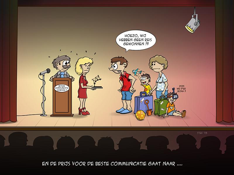 En de prijs voor de beste communicatie gaat naar...