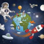 Space puzzel voorbeeld.
