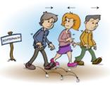 Educatieve illustratie; de processie van Echternach