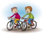 Educatieve illustratie; fietsen