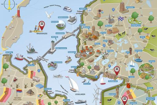 Routekaart van het amsterdam lakedistrict
