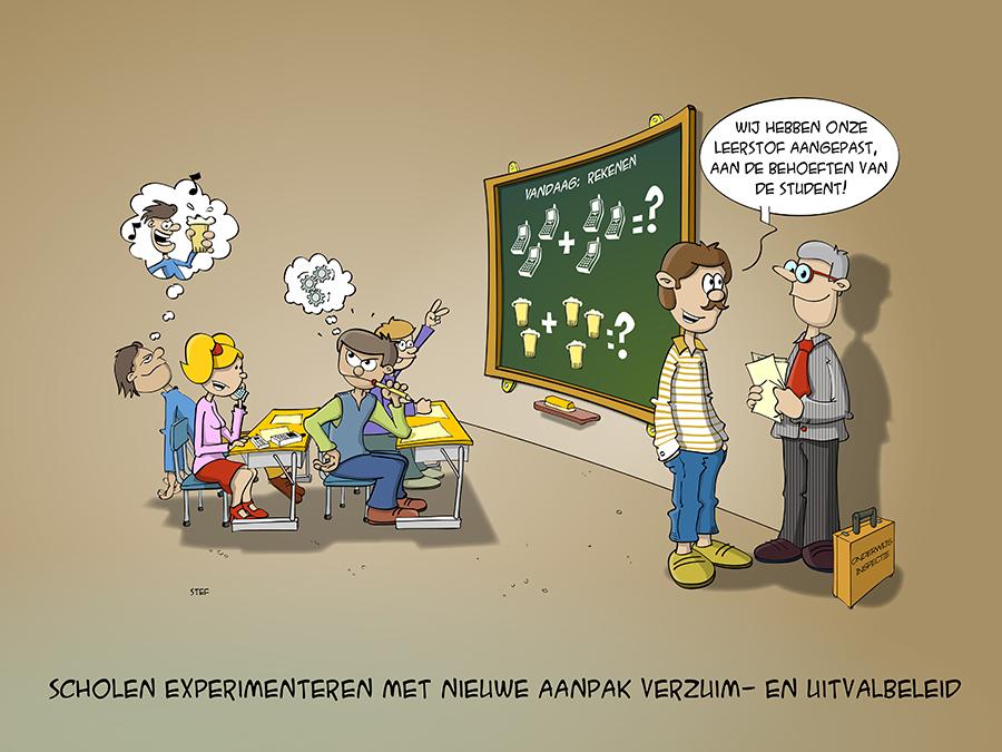 scholen experimenteren met nieuwe aanpak verzuim en uitvalbeleid.
